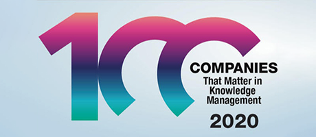 Raytion als eine der KMWorld 100 Companies That Matter in Knowledge Management 2020